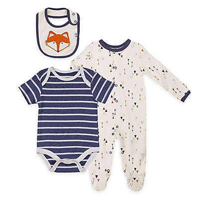 asher and olivia® 3-Piece Woodland Fox Layette Set in Blue