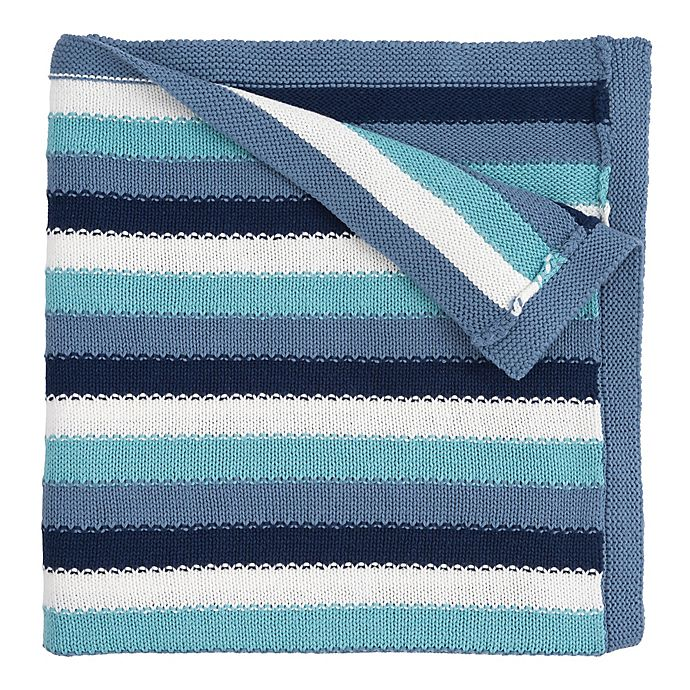 Alternate image 1 for Elegant Baby® Cotton Stripe Blanket