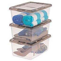 IRIS® 17 Qt. Clear Storage Boxes with Lids (Set of 12)