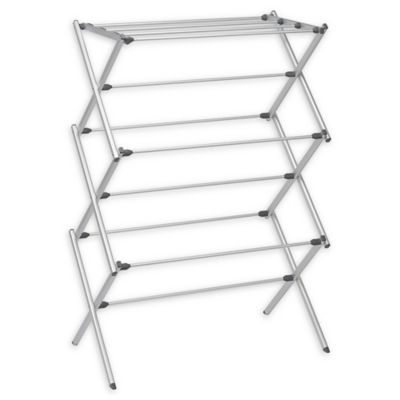 Woolite 174 Folding Drying Rack In Silver Bed Bath Amp Beyond