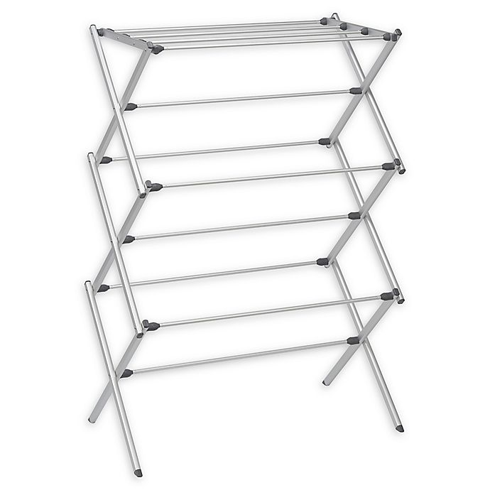 Alternate image 1 for Woolite® Folding Drying Rack in Silver