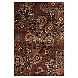 Abacasa Sonoma Lundy 5' x 8' Area Rug in Rust/Brown