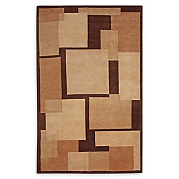 Abasca Aspen Abstract 5' x 8' Handcrafted Area Rug in Tan/Beige