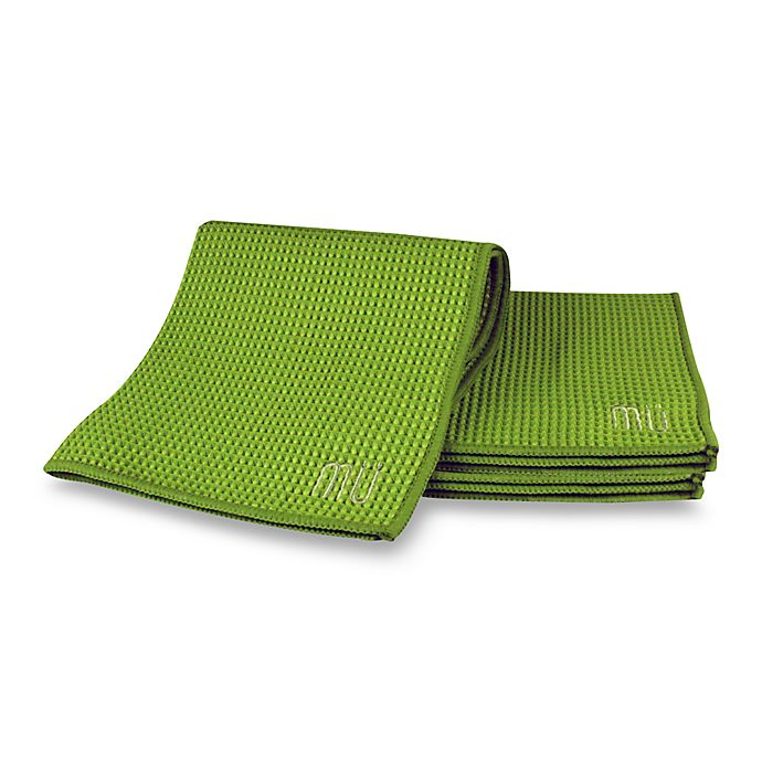Alternate image 1 for MU Kitchen™ Waffle Dish Cloths Set of 3 in Grass