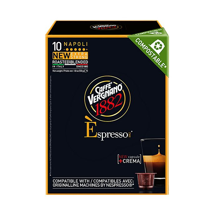 Alternate image 1 for Caffe Vergnano® Napoli Espresso Capsules 10-Count