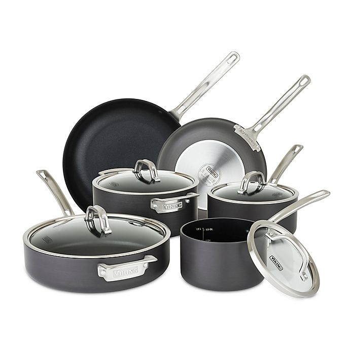 Alternate image 1 for Viking® Hard Anodized Nonstick 10-Piece Cookware Set in Black