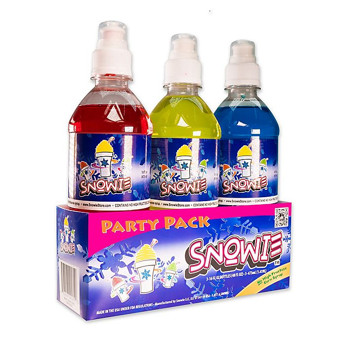 Alternate image 1 for Snowie™ 3-Pack Party Flavored Snow Cone Syrup