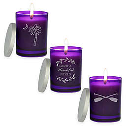 Carved Solutions Gem Collection Amethyst Soy Wax Candle Collection