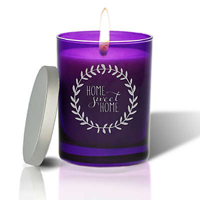 Carved Solutions Gem Collection Home Sweet Wreath Amethyst Soy Wax Candle