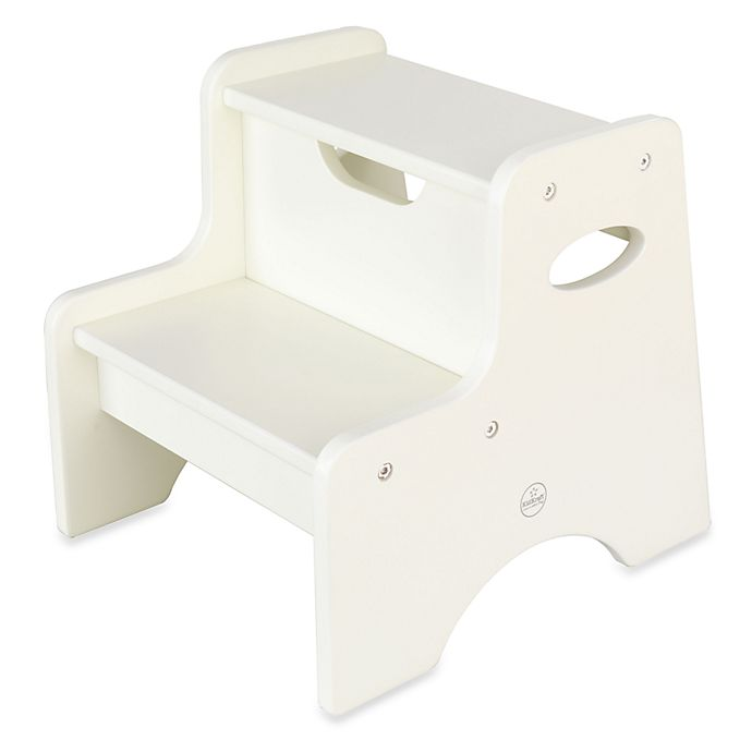 Prime Kidkraft Two Step Stool In White Bed Bath Beyond Gmtry Best Dining Table And Chair Ideas Images Gmtryco