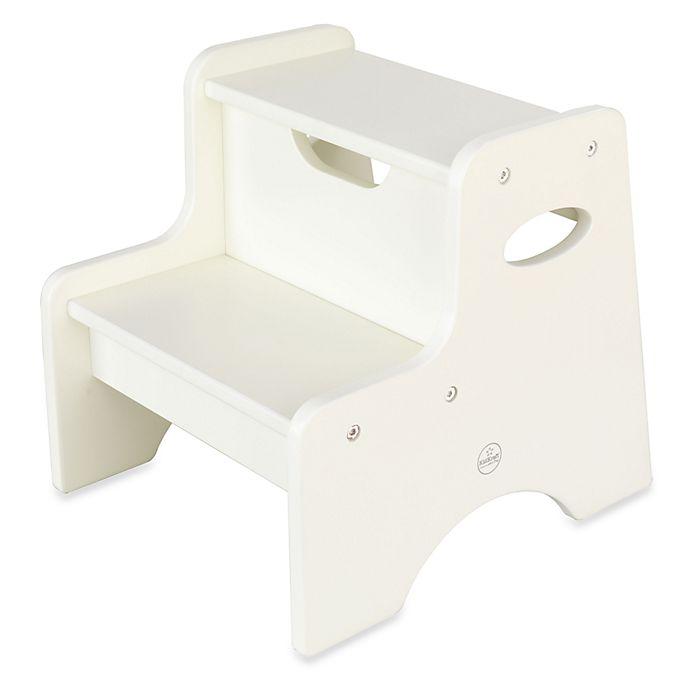 Alternate image 1 for KidKraft® Two Step Stool in White
