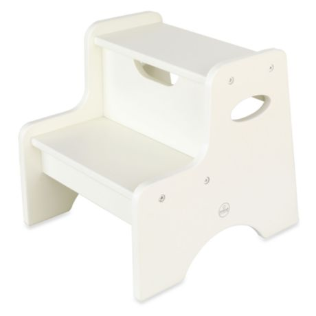 Kidkraft 174 Two Step Stool In White Bed Bath Amp Beyond