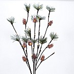 27-Inch LED Lighted Metal Branches with Pine Accents (Set of 3)