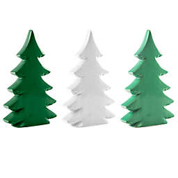Heritage Home Ceramic Christmas Tree Sculptures (Set of 3)
