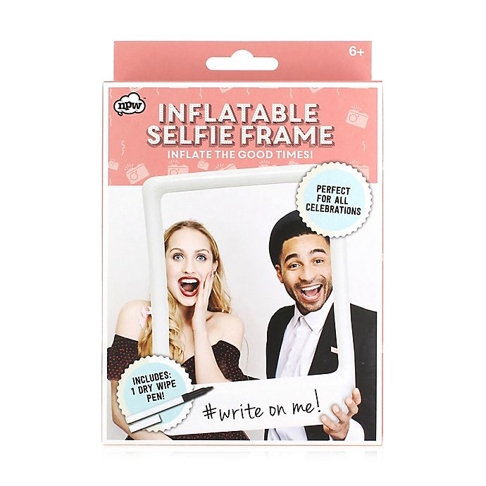 Alternate image 1 for NPW Inflatable Wipe-Off Selfie Frame