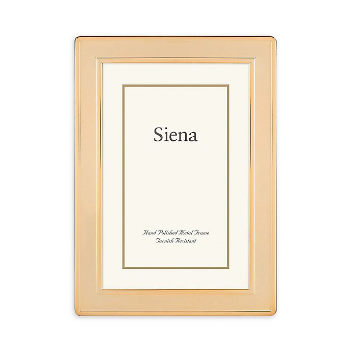 Alternate image 1 for Siena 5-Inch x 7-Inch Goldtone Plain Border Picture Frame