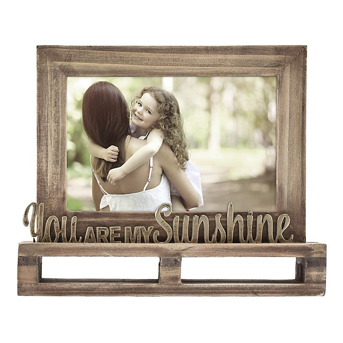 4 Inch X 6 Inch You Are My Sunshine Pallet Style Picture Frame