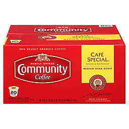 80-Count Community Coffee® Cafe Special Coffee for Single Serve Coffee Makers