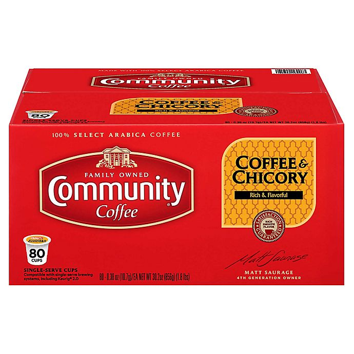Alternate image 1 for 80-Count Community Coffee® & Chicory Coffee for Single Serve Coffee Makers