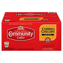 80-Count Community Coffee® & Chicory Coffee for Single Serve Coffee Makers
