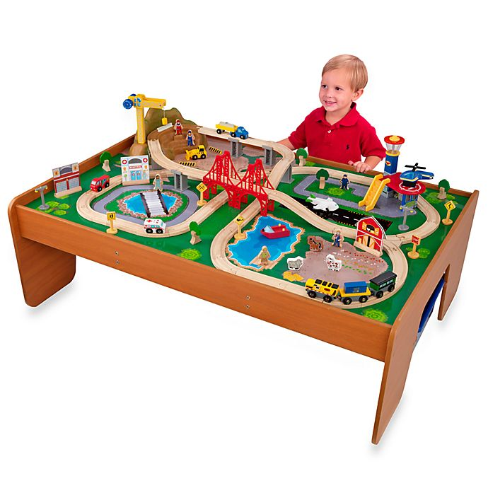 Alternate image 1 for KidKraft® Ride Around Town Train Set with Table