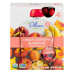 Plum Organics® 4-Pack Plum Peach Banana Apricot 4 oz.Baby Food