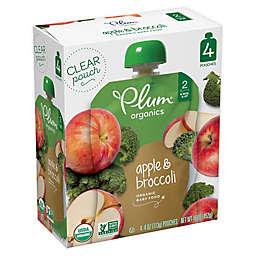 Plum Organics™ Second Blends 4-Pack 3.5 oz. Apple & Broccoli Pouch