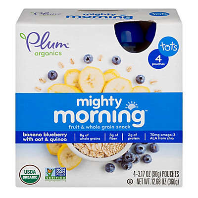 Plum Organics™ 4-Pack 3 oz. Mighty Morning™ Banana, Blueberry, Oat & Quinoa Pouch