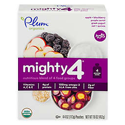Plum Organics® Tots Mighty 4® 4-Pack Apple Blackberry Carrot 4 oz. Baby Food