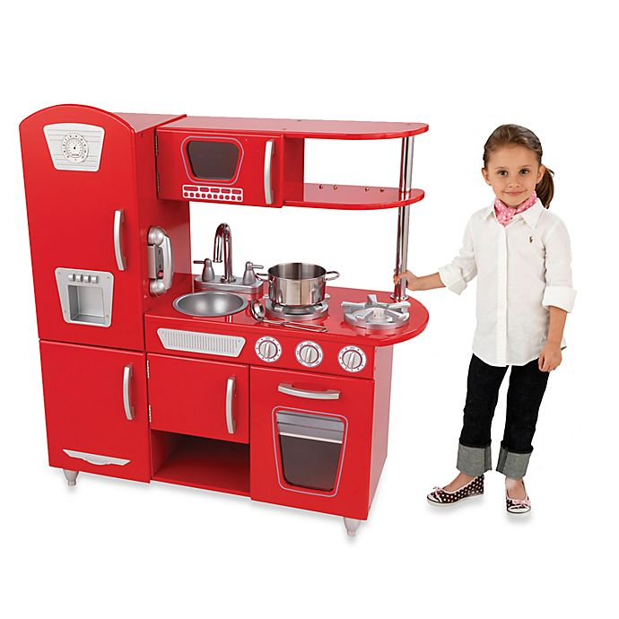 Alternate image 1 for KidKraft® Vintage Kitchen in Red