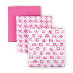 Tadpoles Cotton Muslin Receiving Blankets (Set of 3)