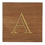 Thirstystone® Acacia Monogram  A  Single Coaster in Gold