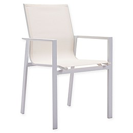 Zuo® Modern Mayakoba Outdoor Dining Armchairs in White (Set of 4)