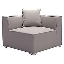 Zuo® Modern Fiji Corner Chair in Grey