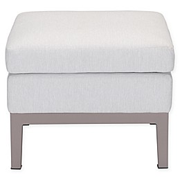 Zuo® Modern Ojai Indoor/Outdoor Ottoman in Champagne/White