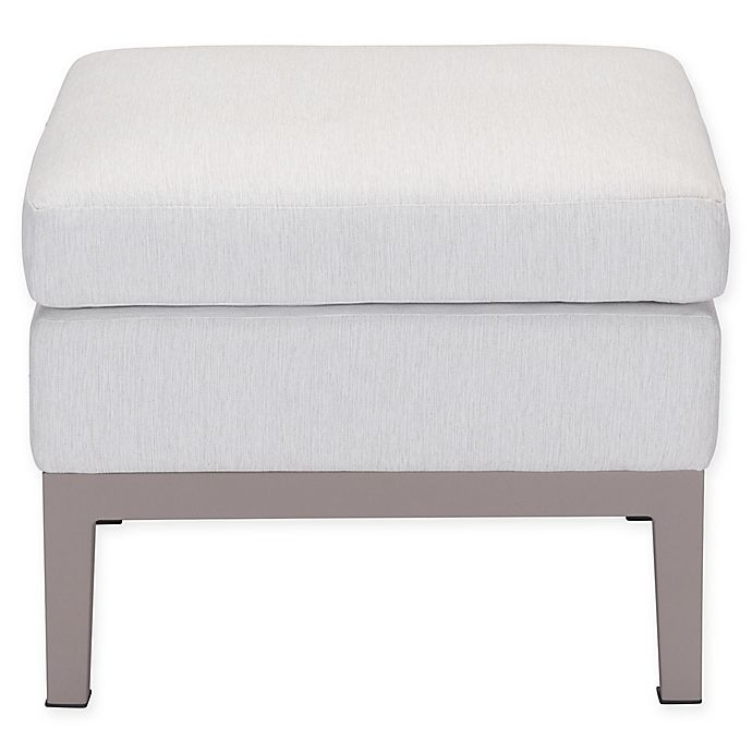 Alternate image 1 for Zuo® Modern Ojai Indoor/Outdoor Ottoman in Champagne/White