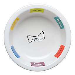 Fiesta® Woof Dog 2-Quart Bowl in White