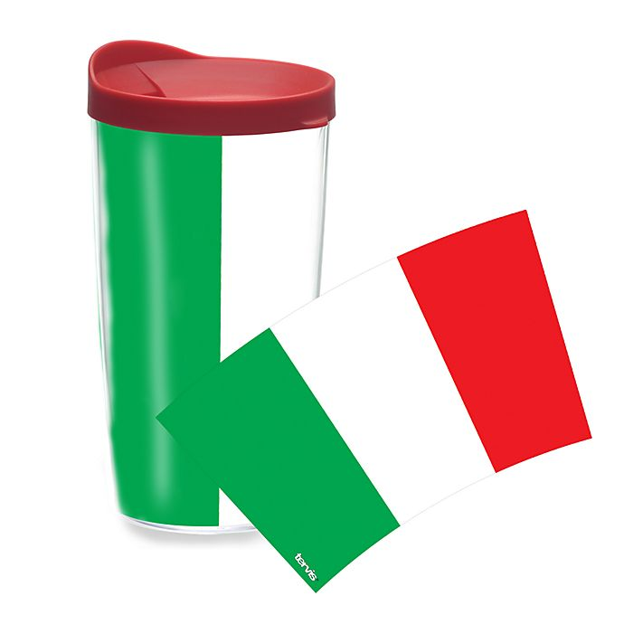 Alternate image 1 for Tervis® Italian Flag 16 oz. Wrap Tumbler with Lid