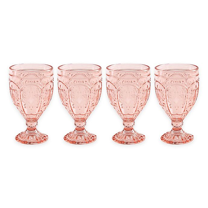 Alternate image 1 for Trestle Goblets in Blush (Set of 4)