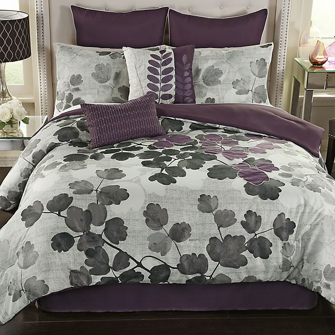 Dasha Comforter Set In Plum Bed Bath And Beyond Canada