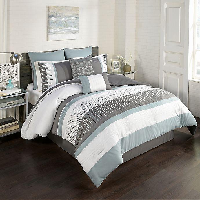 Alternate image 1 for Hadden 8-Piece Queen Comforter Set in Blue