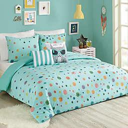 Urban Playground Raining Pom Comforter Set in Blue