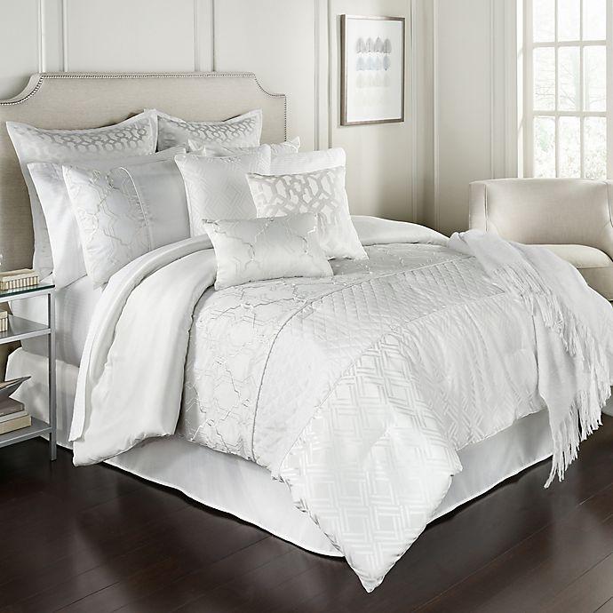 Alternate image 1 for Lebesque 14-Piece Queen Comforter Set in White