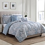 Sofia Floral Reversible 5-Piece Full/Queen Comforter Set