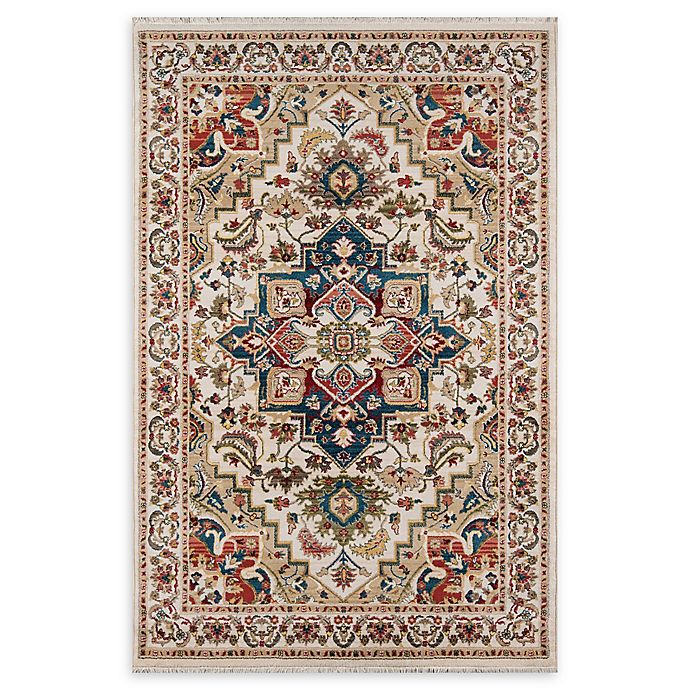 Alternate image 1 for Momeni Lenox LE-01 - 5' x 7' 5 Area Rug in Ivory
