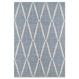 Erin Gates River Hand Woven 7'6 x 9'6 Area Rug in Denim