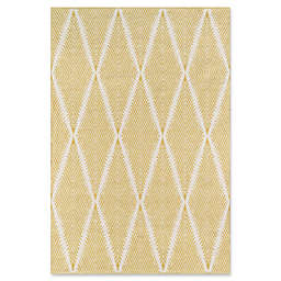 Erin Gates River Hand Woven 7'6 x 9'6 Area Rug in Citron