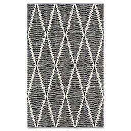 Erin Gates River Hand Woven 7'6 x 9'6 Area Rug in Black
