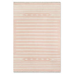 Erin Gates Thompson Stripe Hand Woven 2' x 3' Accent Rug in Pink