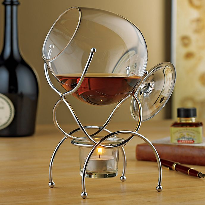Alternate image 1 for Wine Enthusiast Brandy Warmer 4-Piece Gift Set
